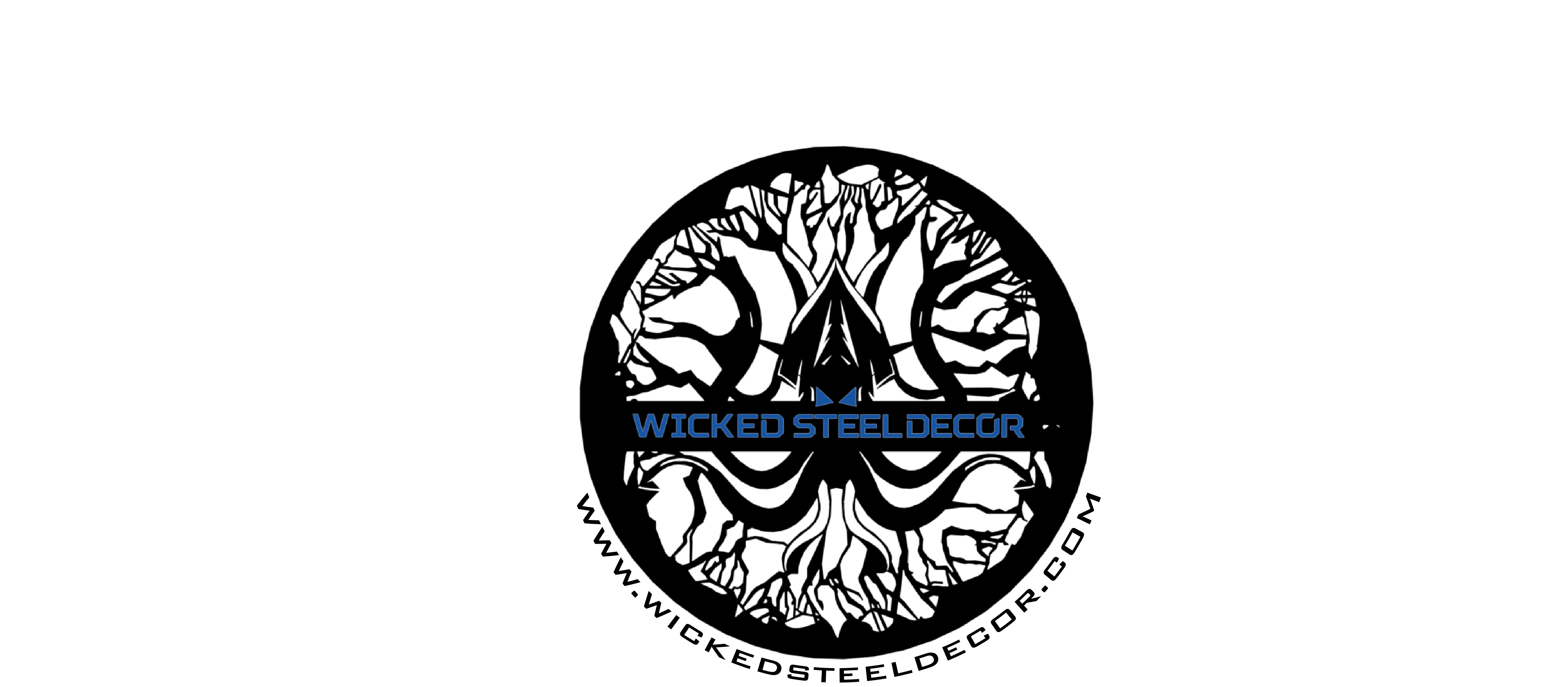 Wicked Steel Decor Updated Logo Wrapped Text